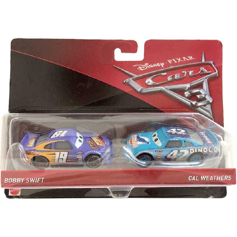 Disney Pixar Cars 3 / Carros 3 Bobby Swift + Cal Weathers DXW03