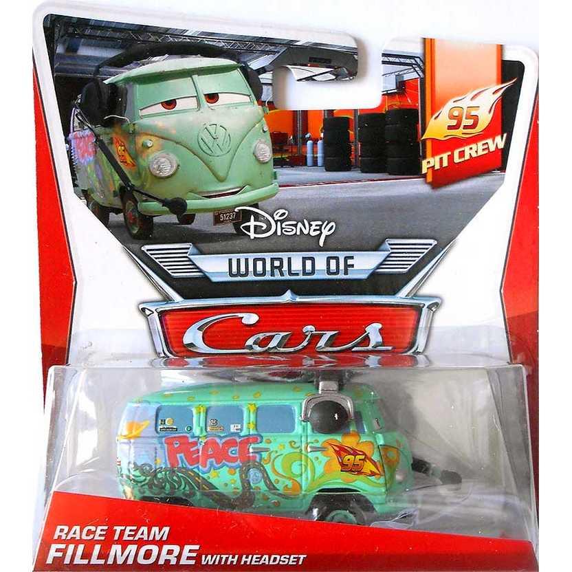 Disney Pixar Cars 95 Pit Crew Race Team Fillmore with Headset 1/5 ( Kombi ) escala 1/55