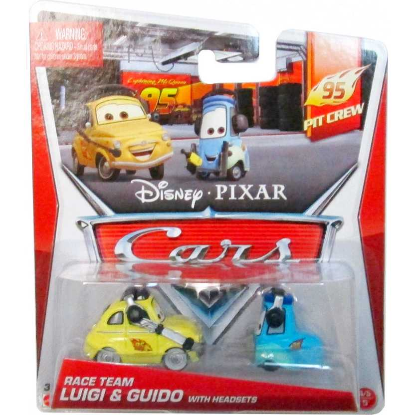Disney Pixar Cars 95 Pit Crew Race Team - Luigi & Guido with headsets 4-5/5