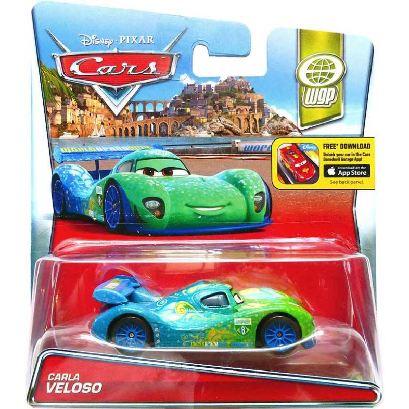 Disney Pixar Cars Carla Veloso (Brasil) Carros escala 1/55 WGP número 8/13