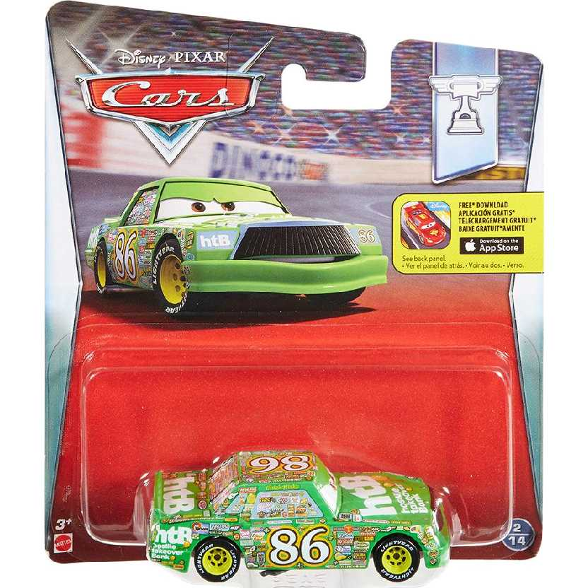 Disney Pixar Cars Chick Hicks 2/14 Carros da Mattel escala 1/55