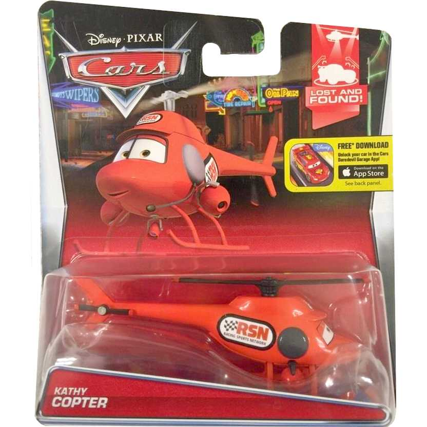 Disney Pixar Cars Lost and Found! Kathy Copter 8/8 CJM40 escala 1/55