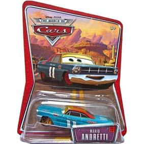 Disney Pixar Cars Movie : Mario Andretti (roda mostarda) #22 brinquedos Carros
