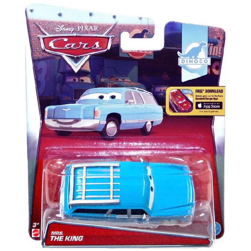 Disney Pixar Cars MRS. The King (Lynda Weathers) Carros escala 1/55 Dinoco 8/8