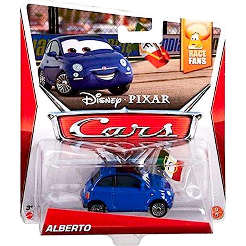 Disney Pixar Cars Race Fans 9/9 Alberto escala 1/55 (Fiat 500) Fiat Cinquecento