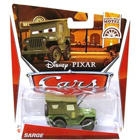 Disney Pixar Cars Retro 2013 WWM Wheel Well Motel 2/11 Sarge