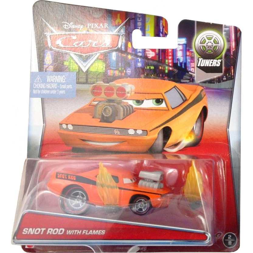 Disney Pixar Cars Tuners 2/8 Snot Rod with flames CDP29 escala 1/55