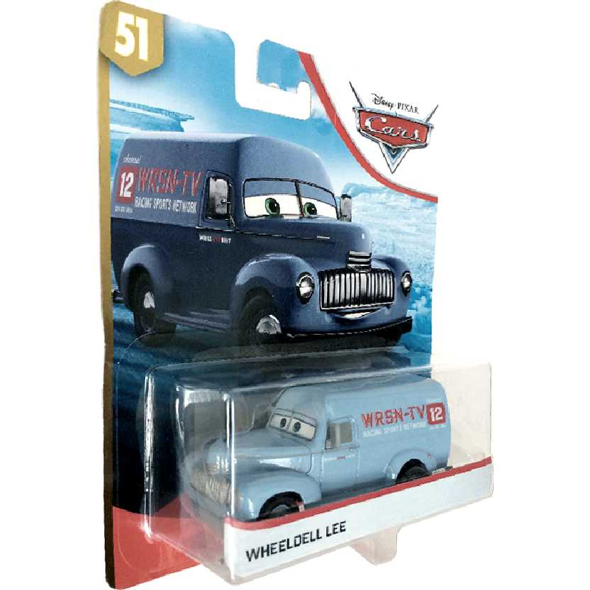 Disney Pixar Cars Wheeldell Lee WRSN-TV channel 12 GBV62 #51 Novo e lacrado