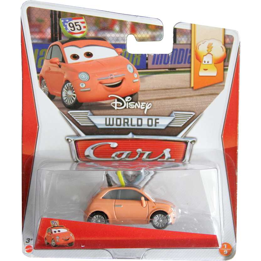 Disney Pixar World of Cars Race Fans 1/9 Cartney Carsper escala 1/55