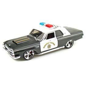 Dodge 330 Police da Maisto escala 1/18 (1963) Viatura da Polícia