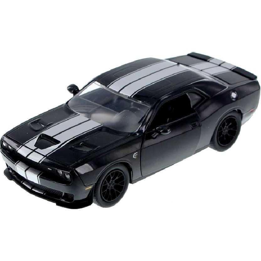Dodge Challenger SRT Hellcat preto/prata (2015) Jada Toys escala 1/24