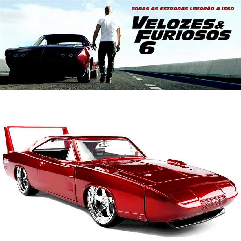 Dodge Charger Daytona (1969) similar do filme Fast & Furious 6 - Velozes e Furiosos 6 esc. 1/24