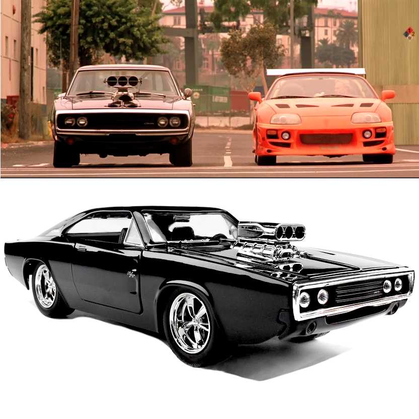 Dodge Charger R/T preto (1970) similar do filme The Fast and Furious Jada Toys escala 1/24