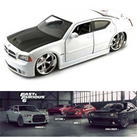 Dodge Charger SRT8 Hemi (2006) similar do filme Velozes e Furiosos 6 escala 1/24