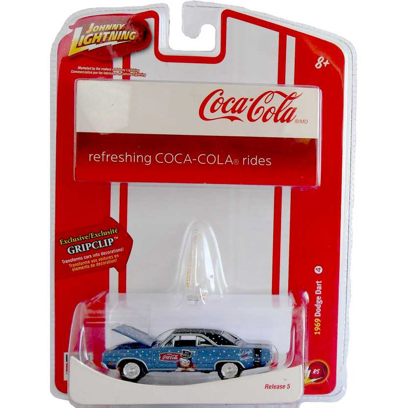 Dodge Dart (1969) Johnny Lightning Holiday Coca-Cola R5 50994 escala 1/64