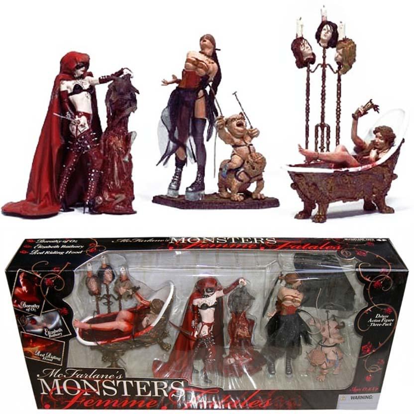 Dorothy, Elizabeth Bathory and Riding Hood ( McFarlanes Monsters Femme Fatales )