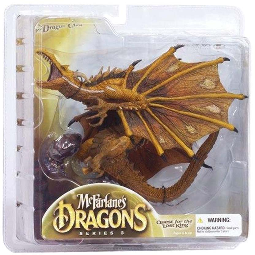 Dragons Mcfarlane Toys series 3 : Fire Dragon Clan 3 Quest for The Lost King