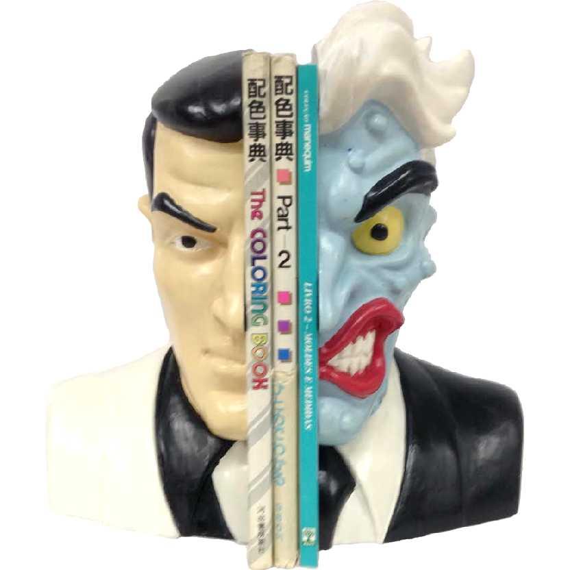 Duas Caras (Aparador de livros em resina) aberto Warner Bros 2 Two Face Bookends