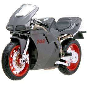 Ducati 748 moto da maisto escala 1/18
