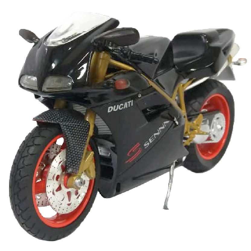 Ducati 916 Senna preto metálico (1995) marca Protar escala 1/9 RARO