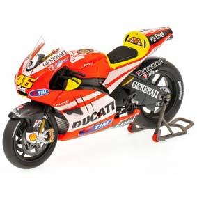 Ducati Desmosedici Valentino Rossi Valencia (2011) Minichamps escala 1/12
