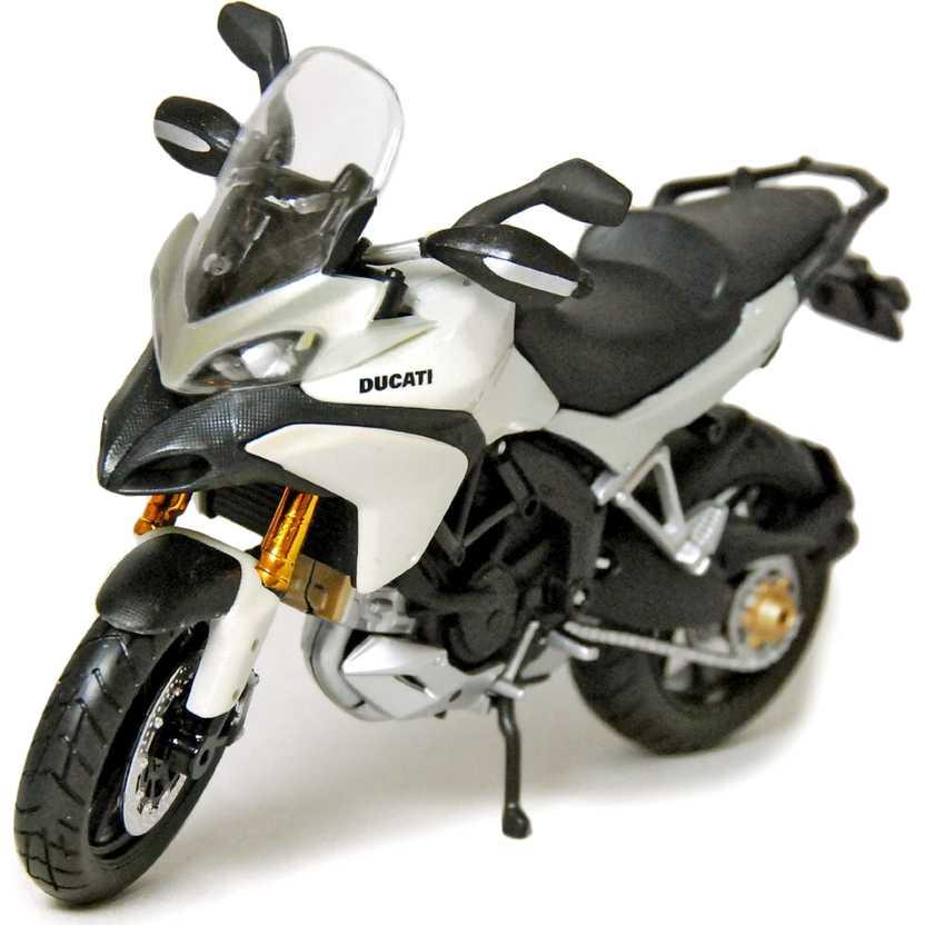 Ducati Multistrada 1200S branco pérola marca Maisto escala 1/12