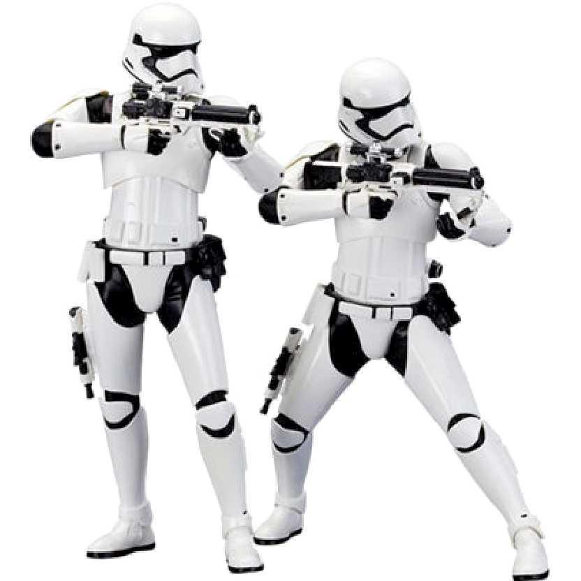 Dupla Star Wars First Order Stormtrooper Kotobukiya ArtFX+ escala 1/10 (Guerra nas Estrelas)