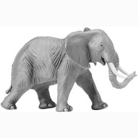 Elefante adulto pintado a mão