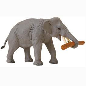 Elefante com tora pintado a mão