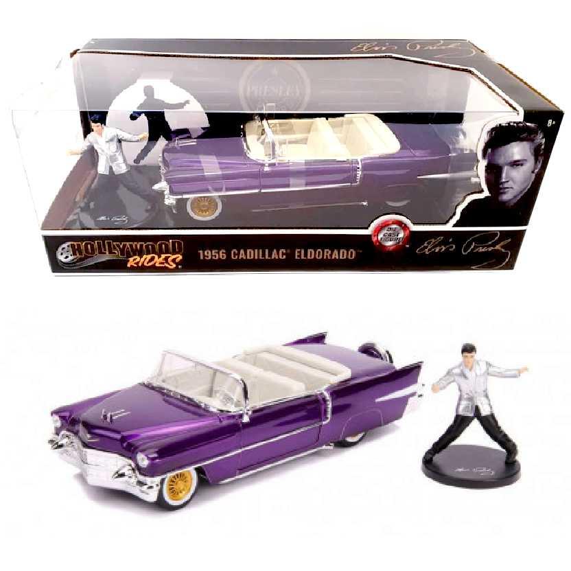 Elvis Presley + Cadillac Eldorado Conversível roxo (1956) Jada escala 1/24