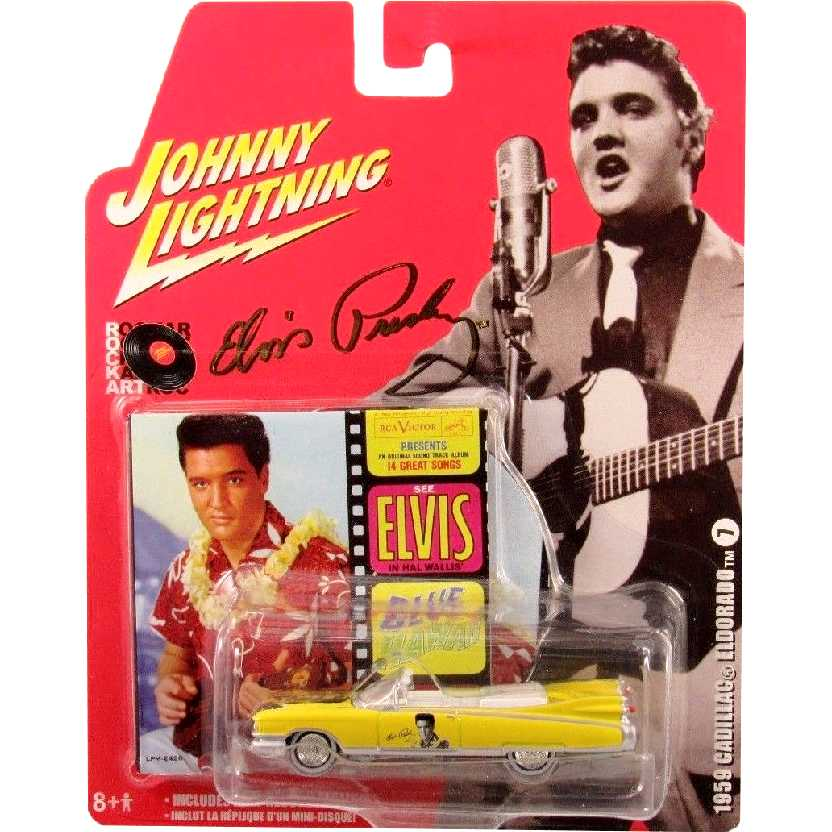 Elvis Presley Cadillac Eldorado (1959) 50401 Johnny Lightning escala 1/64 + mini vinil (raro)