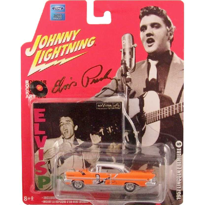 Elvis Presley Johnny Lightning 1957 Lincoln Premiere 50401 escala 1/64 + mini vinil (raro)