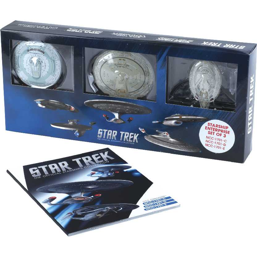 Enterprise NCC-1701-C, NCC-1701-D & NCC-1701-E Set marca Eaglemoss