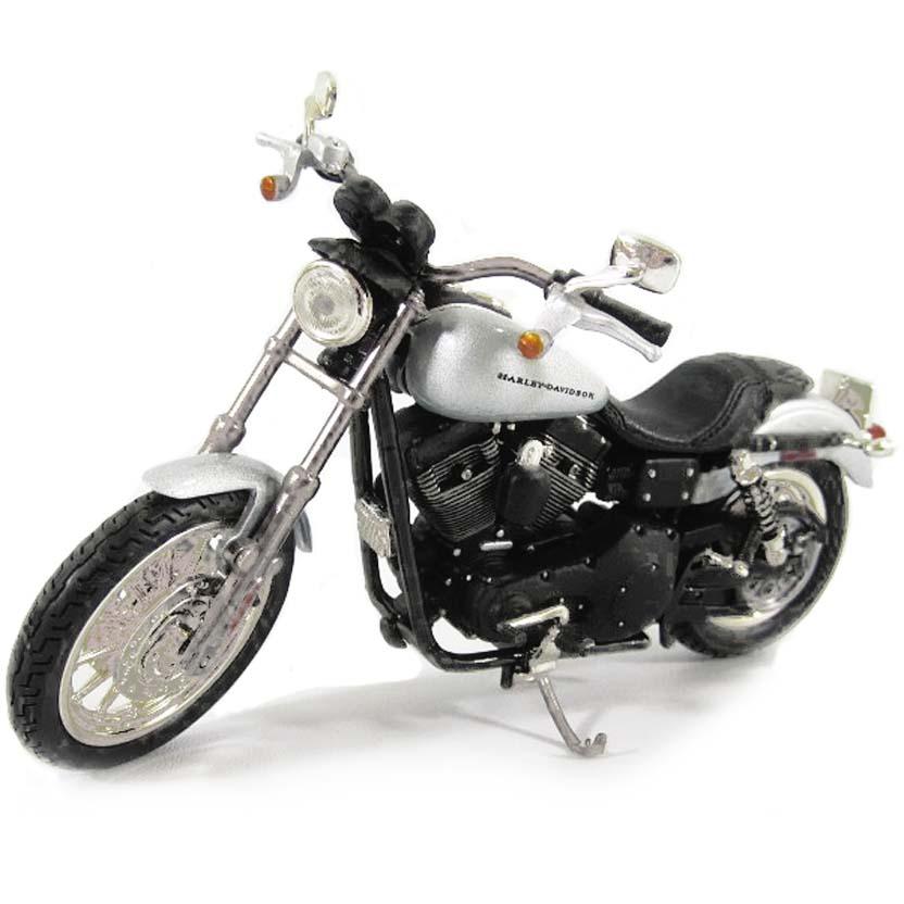 ERTL Miniaturas Harley-Davidson 2002 Dyna Super Glide Sport com retrovisor escala 1/18