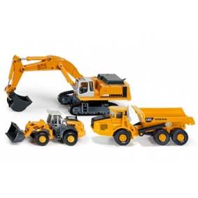 Escavadeira Liebherr 974, Caminhão Volvo A40D e Trator Carregadeira Liebherr 580 Siku 1839