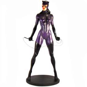 Estátua da Mulher Gato ( Catwoman ) em resina