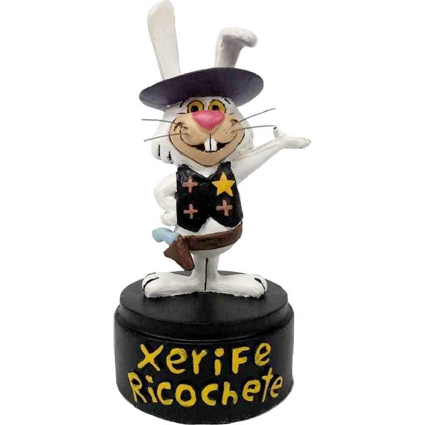 Estátua decorativa do Xerife Ricochete (desenho Coelho Ricochete E Blau Blau)