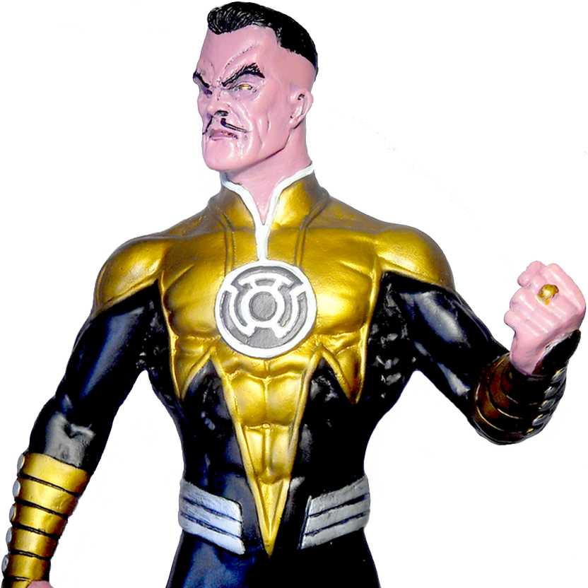 Estátua do Sinestro - inimigo do Lanterna Verde