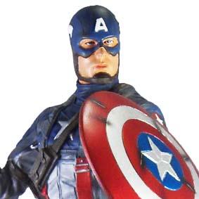 Estátua Marvel Capitão América - Filme Capitão América O Primeiro Vingador