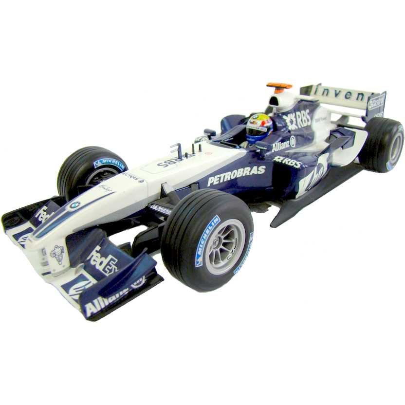 Fórmula 1 Williams FW27 BMW Antonio Pizzonia (2005) F1 marca Hot Wheels escala 1/24