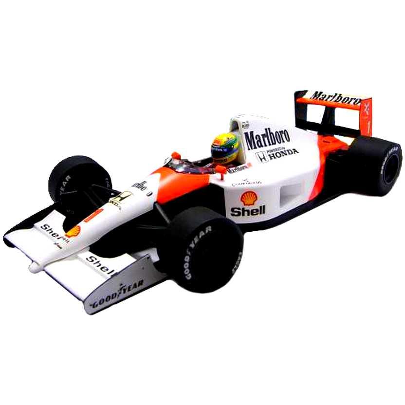 F1 do Tricampeão Mundial Ayrton Senna McLaren Honda MP4-6 (1991) Minichamps escala 1/18