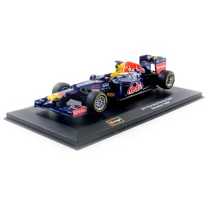 F1 Red Bull RB8 Renault Sebastian Vettel Campeão Mundial (2012) Bburago escala 1/32