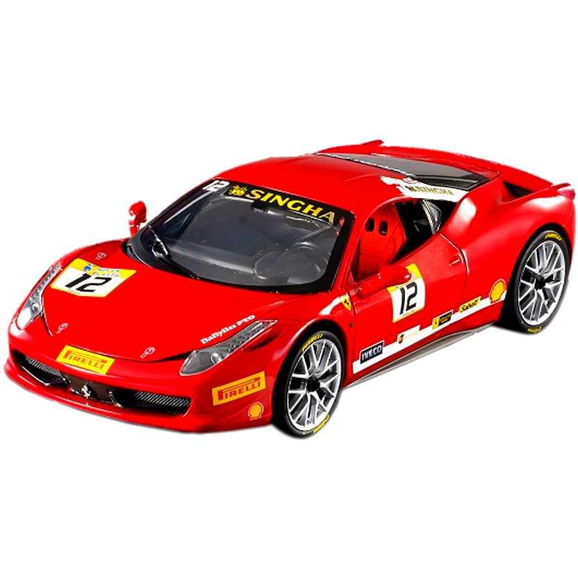 Ferrari 458 Italia Challenge Hard Top #12 BCT89 Hot Wheels escala 1/18