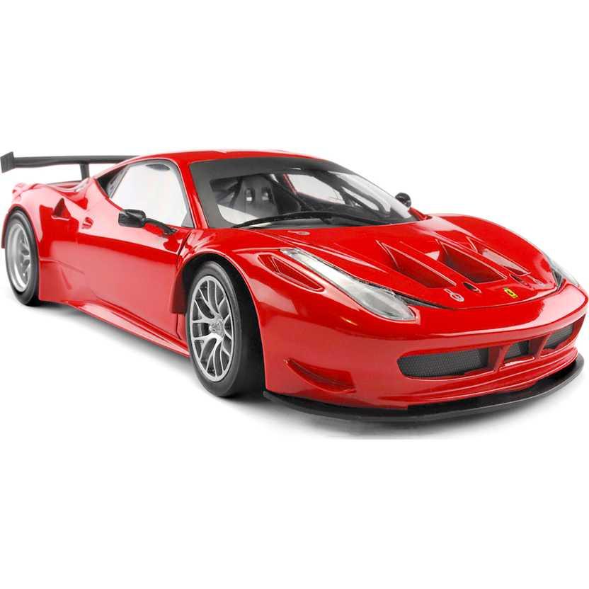 Ferrari 458 Italia GT2 BCJ77 versione Rosso Corsa Hot Wheels escala 1/18