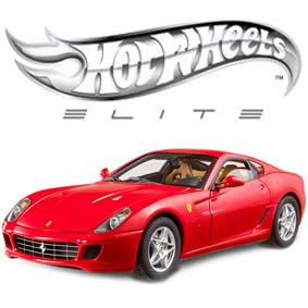 Ferrari 599 GTB Fiorano Hot Wheels Elite com 2 malas escala 1/18 ( RARO ) J2917