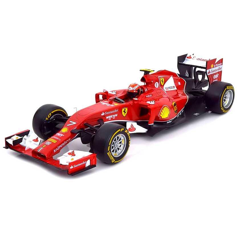 Ferrari F1 F14-T #7 Kimi Raikkonen (2014) BLY68 marca Hot Wheels escala 1/18