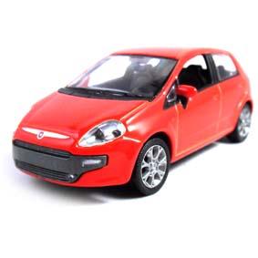 Fiat Punto 2013 cor vermelho marca Norev escala 1/43