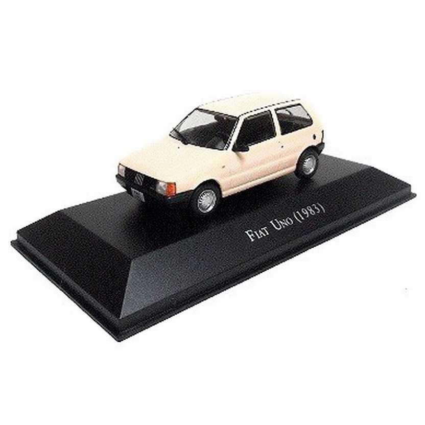 Fiat Uno 1983 Coleção Carros Inesquecíveis Do Brasil escala 1/43