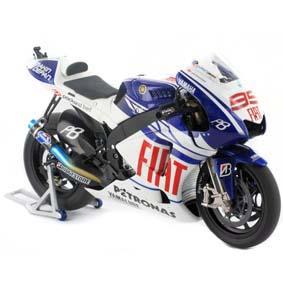 FIAT Yamaha YZR-M1 Jorge Lorenzo MotoGp Campeão (2010) Minichamps escala 1/12
