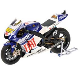 FIAT Yamaha YZR-M1 Valentino Rossi Moto Gp (2010) Minichamps escala 1/12
